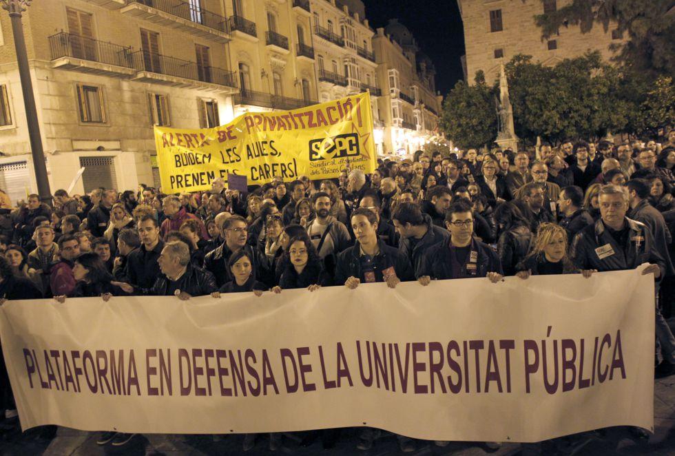 Manifa en Valencia