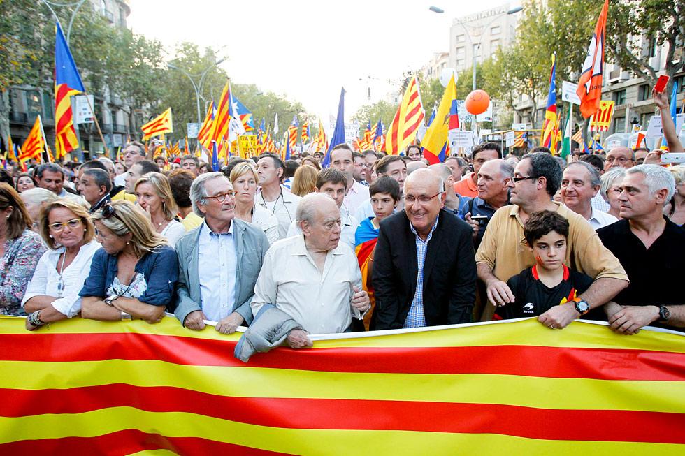 Cabeza de la manifestación independentista