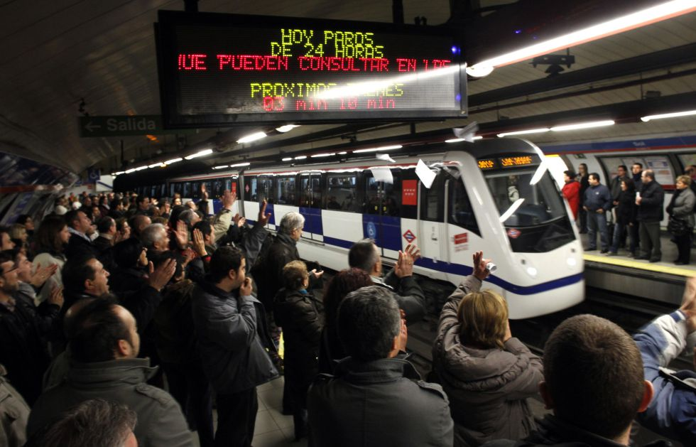 Metro strike in Madrid on January 4, 2013 (Sol)